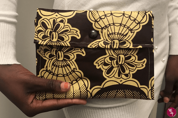 Pochette en Wax – Marron
